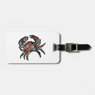 SEEN IN PLAID LUGGAGE TAG