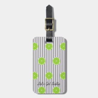 Seersucker And Limes Fiesta Party Luggage Tag