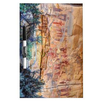 Sego Canyon Indian Pictographs - Utah Dry Erase Board