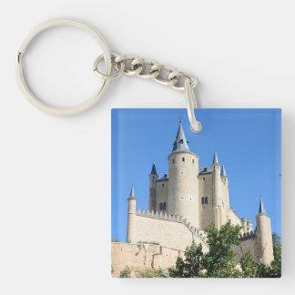 Segovia, Spain Double-Sided Square Acrylic Keychain