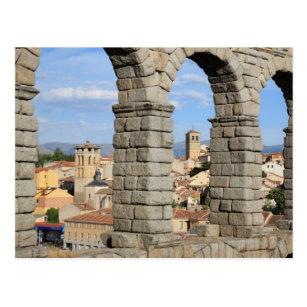 Segovia, Spain is a UNESCO world heritage site Postcard