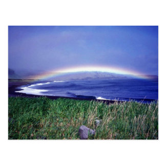 Seguam Island, rainbow over Lava Point Postcard