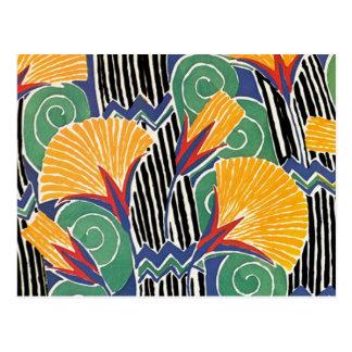 Seguy s Art Deco Golden Flowers - Postcard