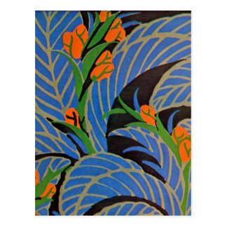 Seguy s Art Deco Tropical Night - Postcard