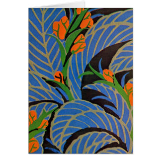 Seguy's Art Deco Tropical Night - Card