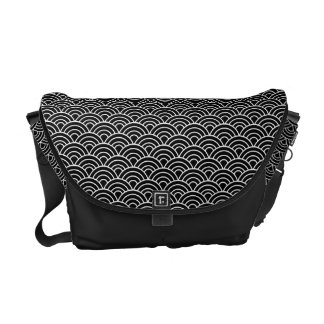 Seigaha Japanese Pattern Messenger Bag B