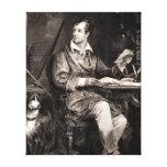 Seigneur vintage Byron Portrait Victorian Poet de  Toile Tendue Sur Châssis