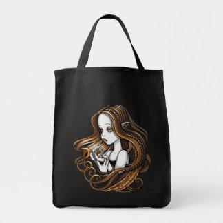 """""""Seika"""" Amber Rose Crystal Ball Angel Canvas Tote"""
