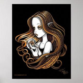 """""""Seika"""" Amber Rose Crystal Ball Angel Poster"""