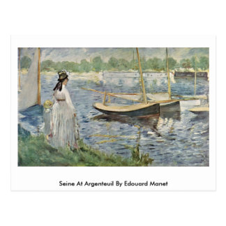 Seine At Argenteuil By Edouard Manet Postcard