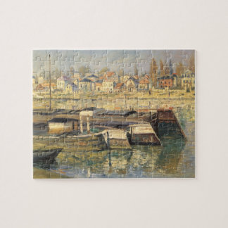 Seine at Asnieres by Claude Monet, Impressionism Jigsaw Puzzle
