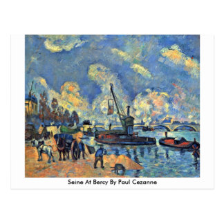 Seine At Bercy By Paul Cezanne Postcard