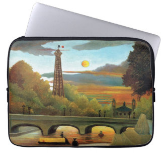 Seine & Eiffel Tower in the Sunset by Rousseau Laptop Sleeve