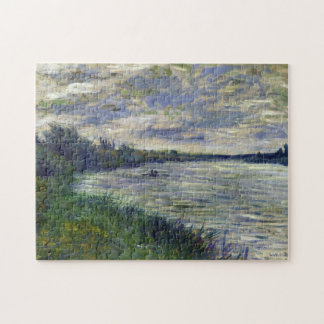 Seine near Vetheuil, Stormy Weather Monet Fine Art Jigsaw Puzzle