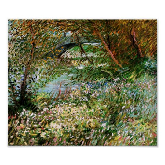Seine, Pont de Clichy in Spring, Van Gogh Fine Art Poster