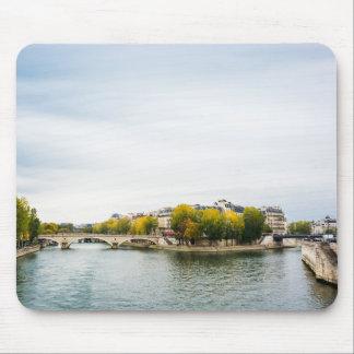 Seine river at Saint Louis island in Paris Mouse Pad