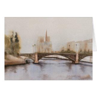 Seine River blank Card