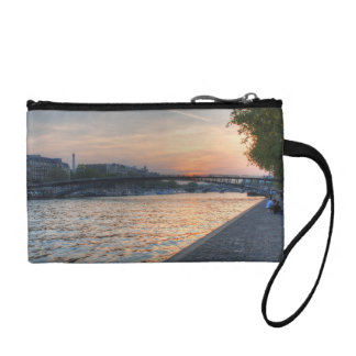 Seine sunset coin purse
