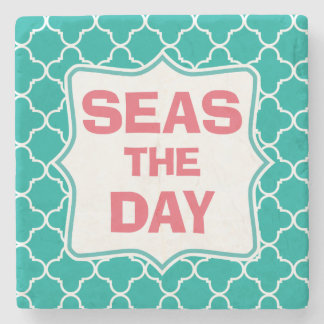 Seize the Day Funny Quote Stone Coaster