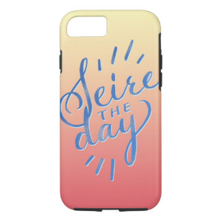 Seize the day, hand lettering Case-Mate iPhone case
