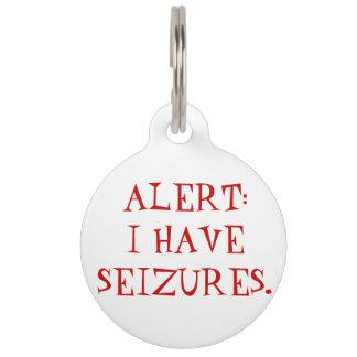 Seizures (Epilepsy) Medical Alert Dog Tag
