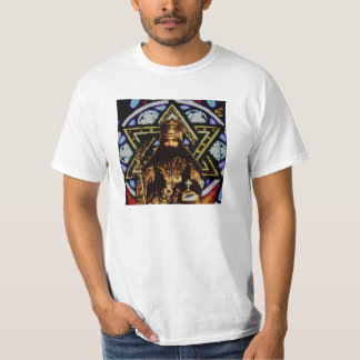 Selassie Star of David Background T-Shirt