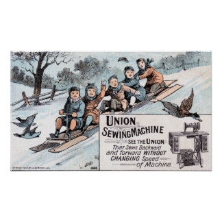 Selding n Sewing Union Sewing Machine Poster