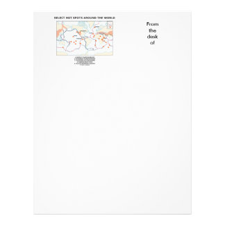 Select Hot Spots Around The World Custom Letterhead