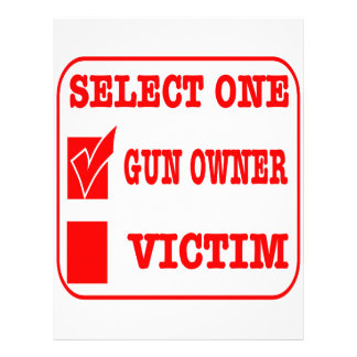 Select One Gun Owner or Victim Letterhead Template