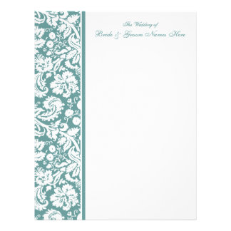 Select your Color Damask Wedding Guestbook Pages Custom Letterhead
