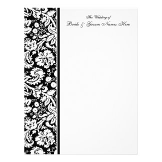 Select your Color Damask Wedding Guestbook Pages Customized Letterhead