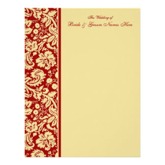 Select your Color Damask Wedding Guestbook Pages Letterhead
