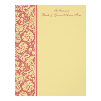 Select your Color Damask Wedding Guestbook Pages Letterhead Design