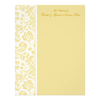 Select your Color Damask Wedding Guestbook Pages Letterhead Template