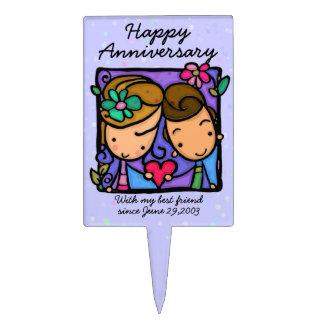 Sélection de gâteau d'Anniversary.Valentine.Love.R Étiquettes À Gâteau