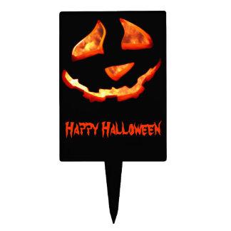 Sélection de gâteau de lanterne de Halloween Étiquettes À Gâteau