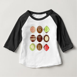 Selection of chocolate candies baby T-Shirt