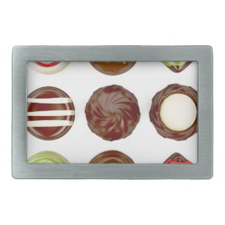Selection of chocolate candies belt buckles