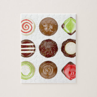 Selection of chocolate candies jigsaw puzzle
