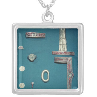 Selection of jewellery silver plated necklace