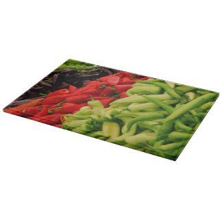Selection Of Peppers Cutting Board