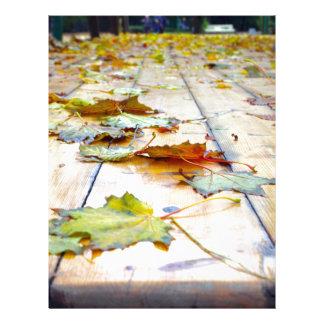 Selective focus on fallen autumn maple leaves clos custom letterhead