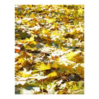 Selective focus on the yellow fallen autumn maple custom letterhead