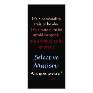 Selective Mutism Awareness Rack Card