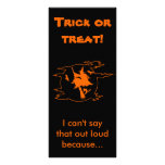 Selective Mutism Trick-or-Treat Customized Rack Card