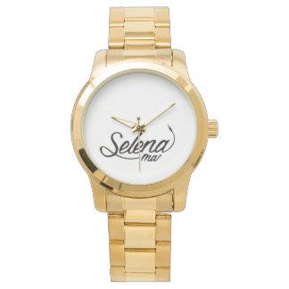 Selena Mai oversize Gold detail watch