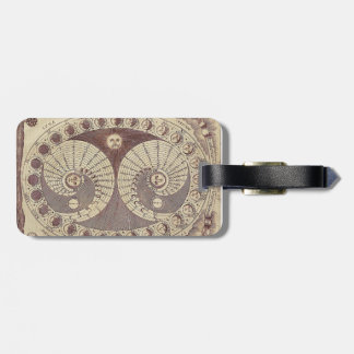 Selenic Shadowdial Antique Celestial Luggage Tag