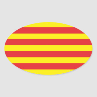 "Self-adhesive Catalan Flag ""Serenya "" Oval Sticker"