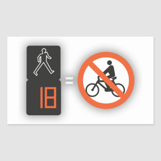 Self-adhesive exclusive Fire with the pedestrians, Sticker
