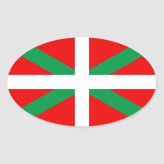 "Self-adhesive Flag Basque ""Ikkurina "" Oval Sticker"